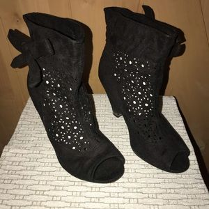 Open Toe Ankle Booties with Heel - Size 7.5 - EUC